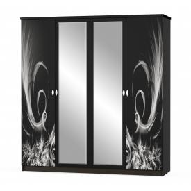 Шкаф 4д Мебель-Сервис Ева 214х201х58 см венге темный