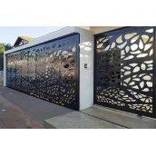 Ворота з декоративною вставкою  VD1 Наша Хата