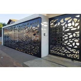 Ворота с декоративной вставкой VD1 Наша Хата