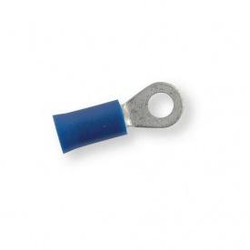 Клема обтискна ізольована кільцева Berner синій 4,3 мм