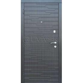 Дверь входная 860x2050 металлические с МДФ накладками в помещение