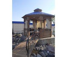 Будівництво дерев'яної альтанки Гюмрі 4х4х2,2м з ясена