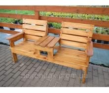 Скамейка садовая для отдыха Первая 160х70х90 см