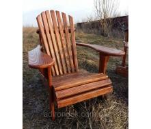 Садовое кресло класическое Адирондак из натурального дерева