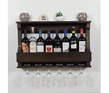 Полка винная настенная Adirondak 43х10х70 см