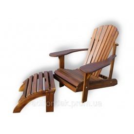 Крісло садове Адірондак з підніжкою 780х1000 мм