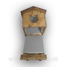 Утеплена будка для котика Adirondak 570х430х400 мм