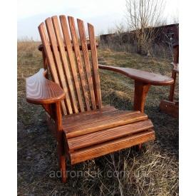Садове крісло класичне Адірондак з натурального дерева