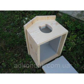 Утеплена будка для котика Adirondak 400х300х270 мм