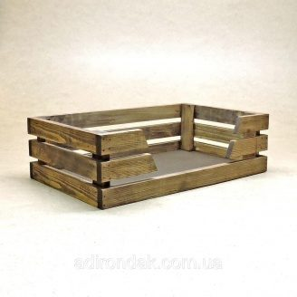 Лежак деревянный для собаки Капучинно 130х500х300 мм