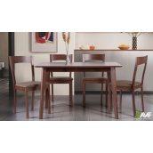 Обідній комплект AMF стіл Віндзор + стілець Річард дерев'яні меблі коричнева