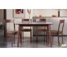 Обеденный комплект AMF стол Виндзор + стул Ричард деревянная мебель коричневая