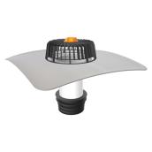 Ремонтная воронка TOPWET TWE SAN BZ 110 PVC с приваренным фартуком и листоуловлювачем