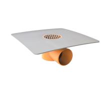 Воронка водосточная TOPWET TWB 50 PVC V для балконов с приваренным фартуком из ПВХ-мембраны