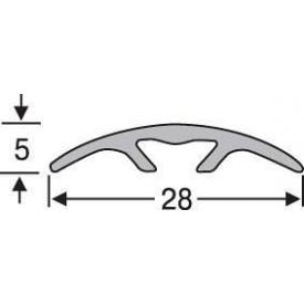 Скрытый порожек анодированный 28 мм серебро 0,9 м
