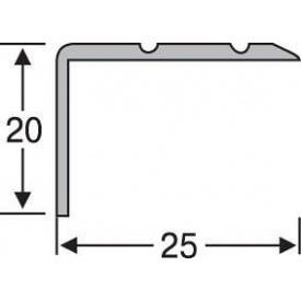 Порожек угловой алюминиевый анодированный 25х20 бронза 2,7 м