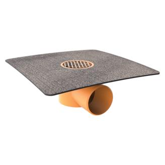 Воронка водосточная TOPWET TWB 50 BIT V для балконов с приваренным фартуком из рулонного битумно-полимерного материала