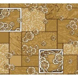Домашний бежевый ковролин Камила войлочный цветной