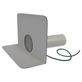 Круглая парапетная воронка TOPWET TWCЕ 110 PVC с приваренным фартуком из ПВХ-мембраны с электроподогревом