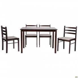 Обідній стіл і стільці АМФ Брауні комплект дерев'яних меблів