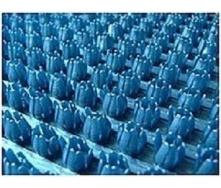 Рулонне брудозахисне вхідне щетинисте пластикове покриття 12х900х15000 мм металік синє