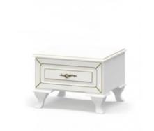 Тумба прикроватная Мебель-Сервис Милан 45х52х36 см белый