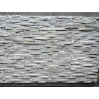 Гіпсовий камінь Венеція 00 350х90х20 Білий