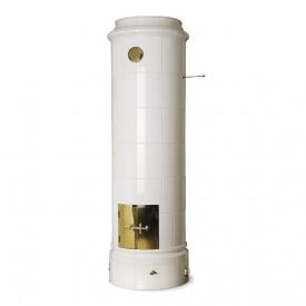 Изразцовая отопительная печь Keddy Christineberg 10 кВт 695х2265х600 мм белая