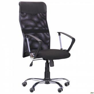 Офисное кресло AMF Ultra Хром 1220х610х620 мм спинка Сетка черная