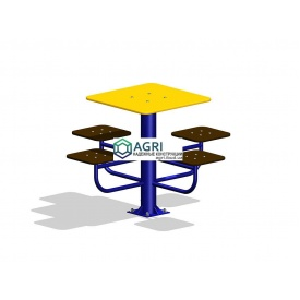 Стол для настольных игр с сиденьями 1,2х1,2х0,8 м
