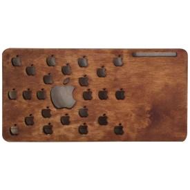 Деревянная подставка для ноутбука Пеликан Груп яблоки (002)
