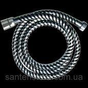 Душовий шланг Invena BIFLEX хром-чорний 150 см