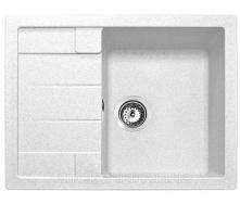 Кухонна гранітна мийка ADAMANT ANILA 650x500x200 мм біла