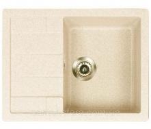 ПлКухонната гранітна мийка ADAMANT ANILA 650x500x200 мм Слонова кістка