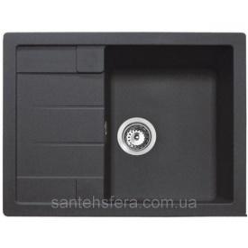 Кухонная гранитная мойка ADAMANT ANILA 650x500x200 мм черная