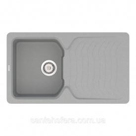 Кварцевая кухонная мойка VANKOR Sigma SMP 02.85 Gray