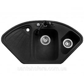 Гранитная кухонная мойка ADAMANT CONSENSUS 1060x575x190 мм черная