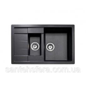 Гранитная кухонная мойка ADAMANT ANILA PLUS 780x500x200 мм черная