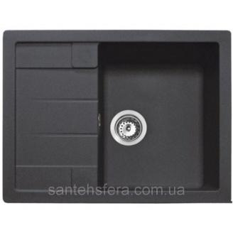 Кухонна гранітна мийка ADAMANT ANILA 650x500x200 мм чорна