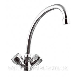 Змішувач для умивальника і кухонної мийки Invena MODENA 20 см
