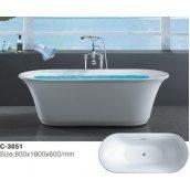 Отдельностоящая ванна акрилова Atlantis C-3051