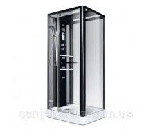 Гидробокс Miracle NA113-3 A 110х90 см профиль черный стекло прозрачное с зеркальной задней стенкой и крышей