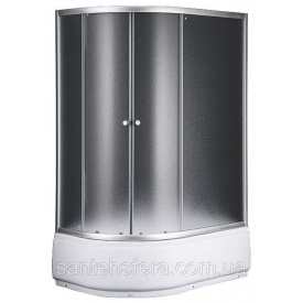 Душевой угол Sansa S120-80/45R 120х80х197 см асимметрия профиль сатин стекло шиншилла