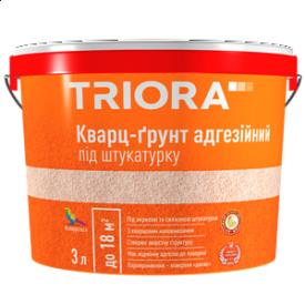 Ґрунтовка з кварцовим піском під штукатурку TRIORA 10 л