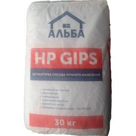 Штукатурка гіпсова Альба HP GIPS 30 кг
