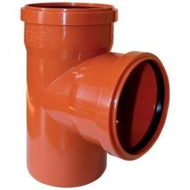 Трійник редукційний для зовнішньої каналізації 160x110x90 мм