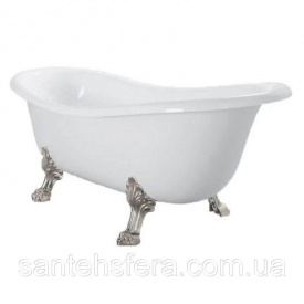 Окремостояча ванна акрилова Atlantis З-3015 біла ноги срібло
