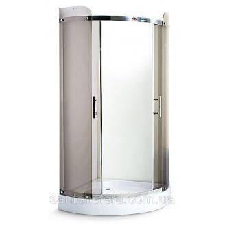 Душевой угол Miracle 100x100 см профиль хром стекло чайное