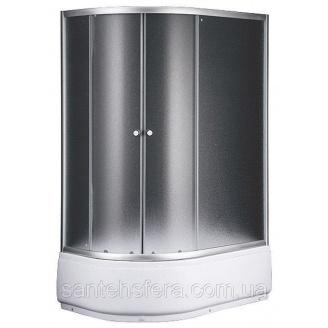 Душовий куток Sansa S120-80/45R 120х80х197 см асиметрія профіль сатин скло шиншила