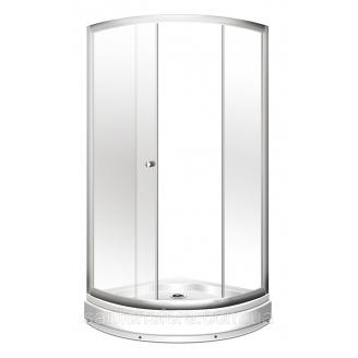 Душевой угол Miracle 92x92 см профиль хром стекло фабрик